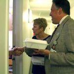JChristopher+ DGoldberg delivering meals