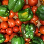 photo of tomatoes and peppers